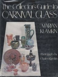 Collector's Guide To Carnival Glass By Marain Klamkin - Hardcover Brand New
