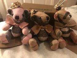 Vintage Lot Of 3 Classic Thomas Bear Keychains Only One Box