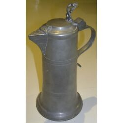 Antique 1870 Germany Rare Original Channe In Pewter Engraved Fk Stierhof