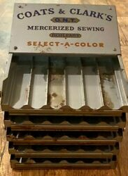 Vintage Coats amp; Clark#x27;s O.N.T. Sewing Select A Color Spool Thread Store Display