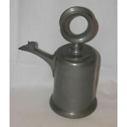 Antique 1765 Rare Swiss Original Pewter Channe Hvf Dated
