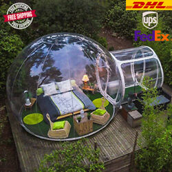 Outdoor Inflatable Bubble House 3m Clear Transparent Camping Tunnel Tent Dome