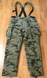Weatherby Performance Wool Camo Hunting Pants Sz Xxl W Matching Suspenders