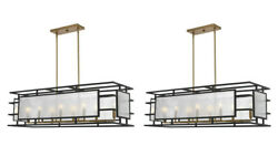 Two Holmes 42 Modern Mercury Glass And Metal Pendant Chandelier Light Uttermost