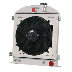 3 Row Radiator Shroud Fan For 1932 Ford Street Rod Chevy Outlet Trans Cooler