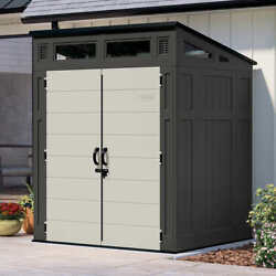 6and039 X 5and039 Shed Kit + Floor Durable All-weather Resin Easy Assembly 10 Yr Warranty