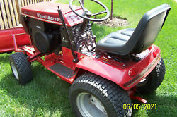 Wheelhorse 416-8 Tractor With Snowblade And Rear Discharge Mower