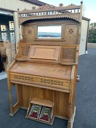 Antique Kimball Reed Pump Organ Late 1920and039s Original Condition Ornate Wood
