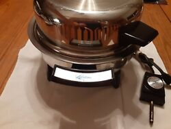 Lifetime Webalco No. 17906 Stainless Steel Electric Skillet With Lid