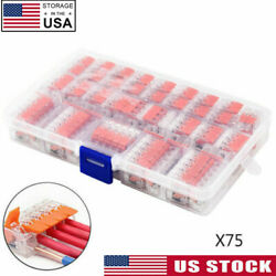 75pcs 221-412 Electrical Connector Wire Block Clamp Terminal Cable For Wago Us