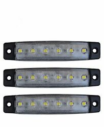 3 X 24v Led 6smd White Side Indicator Lights Truck Lorry Trailer Bus Van Chassis
