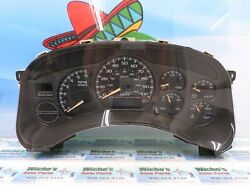 2002 Chevy Avalanche 1500 Instrument Cluster Ident 15055362 Oem