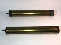 Antique Grandfather Clock Set Of 2 Large Brass Weights 6lbs 15.2oz Each