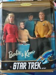 Rare 30th Anniversary Collectible Edition Star Trek Barbie And Ken Barbie Doll