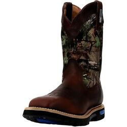 Cinch Work Boots Mens Wrx Wp Rubber Sole Real Tree Camo Brown Wxm105w