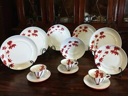 Mikasa Pure Red Lot 5 Dinner Plates 3 Cups 1 Coupe Soup Bowl 1 Salad Plate