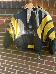 Vintage 90s Starter Pittsburgh Steelers 1/4 Zip Pullover Jacket Youth Small