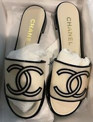 Nib Authentic Icon Womens Sandals White 2021 Ss Size 39 Vv
