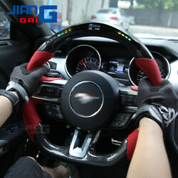 The Newest Led Carbon Fiber Steering Wheel For 2015-2017 Ford-mustang Shelby Gt