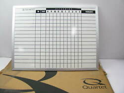 Quartet 711 15 Employee In / Out Time Meal Tracking Board W/ Remarks - 24 X 18