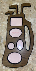 """Foto Frames Golf Bag Picture Frame 5 Section Collage 20.5x9"""" Faux Wood Grain"""