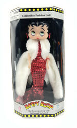 Vtg 1998 Betty Boop Collectible Fashion Doll Stand Included By Precious Kids