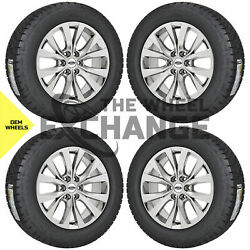 20 Ford F150 Truck Pvd Chrome Wheels Rims Tires Factory Oem Set 4 10003