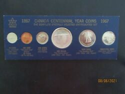 Nice Old Vintage 1867-1967 Centennial 6 Coins Set From Canada. Great Condition