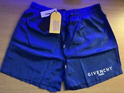 Genuine Givenchy Shorts Blue Small Size, Rrp £285, Sensible Offer