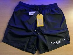 Genuine Givenchy Shorts Black Small 28-30 Waist, Rrp £285, Sensible Offer