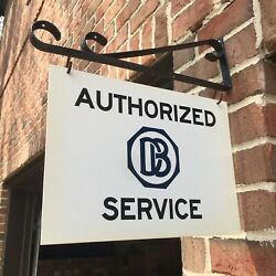 Dodge Brothers Authorized Service Sign And Bracket. Classic Db Logo. Last One