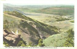 The Lariat Trail amp; Golden From Wild Cat Point Lookout Mountain Colorado Postcard