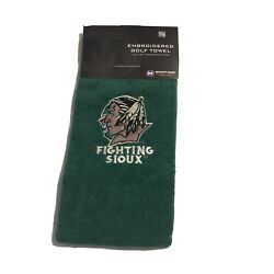University Of North Dakota Fighting Sioux Embroidered Golf Towel Nwt Deadstock