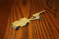 Marx Army Battleground Desert Fox Tan Jeep And Cannon A - Mpc, Timmee