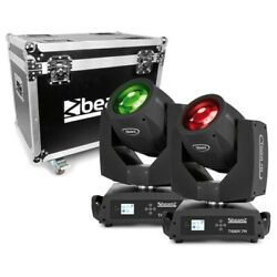 Beamz Tiger 7r 230w Moving Head Beam And Spot 2pcs In Flightcase 230w Moving Head