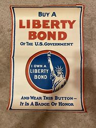 Buy A Liberty Bond Of The U.s. Government 1917 Genuine Wwi Poster