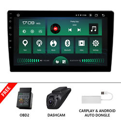 Carplay+obd+dvr+8-core Android 10 4gb Ram 10.1 Double 2din Car Gps Stereo Radio