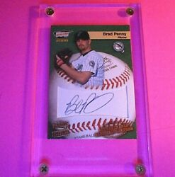 2000 Pacific Revolution Mlb Game Ball Signatures Brad Penny 25 Rookie Auto Rc