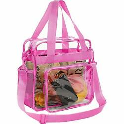 BAGAIL Clear Bag Stadium Approved Tote Bags with Front Pocket and Adjustable ... $23.50