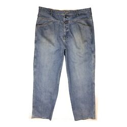 Marithe Francois Girbaud Menand039s Size 40 Blue Jeans Zip Fly