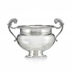 Antique 19th Swiss Rare Original Cup With Silver Handles By Gandeacutely Frandegraveres 285g