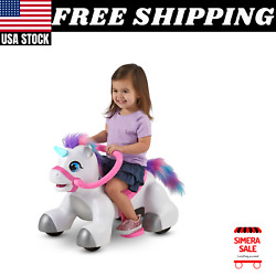 Unicorn Ride-on Toy By Kid Trax 6-volt Toddler Powered