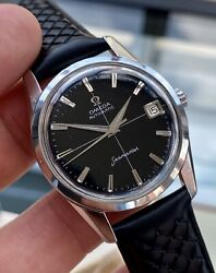 Omega Automatic Seamaster Stainless Black Dial Steel Mens Vintage Serviced Watch