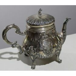 Antique 19th Old France Silver Rare Teapot Ernest Francillon Marked 712g