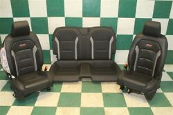 18' Camaro Ss Coupe Black Heated Cooled Leather Dual Power Bucket Seats Backseat