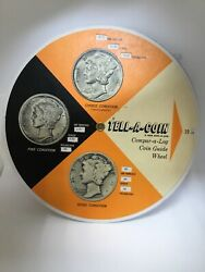 Tell-a-coin Coin Guide Wheel, Merc Dime And Standing Liberty 437