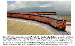 Kato N Scale Southern Pacific Lines Daylight 10 Car Passenger Set Pre Order