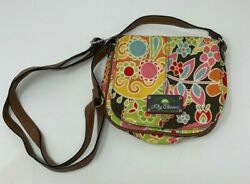 Lily Bloom Small Crossbody Fold Over Bag Purse Colorful Flowers Adjustable. $10.00