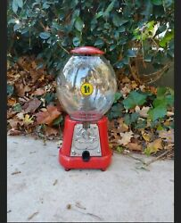 Vintage 1920s Amco Advance Model D 1 Cent Penny Gumball Machine Rare...