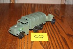 Timmee Processed Plastic 2.5-ton Army Truck And Tarp And Cannon Cq - Marx, Mpc